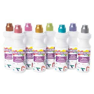 Colorations Shiny Chubbie Markers - Set of 8