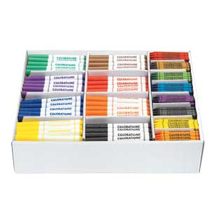 Colorations Marker and Crayon Combo Pack - 400 Pieces