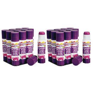 Colorations Washable PURPLE Glue Sticks, 0.32 oz, set of 24