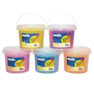Excellerations Spectacular Sensory Foam - Set of 5 Tubs, 5.5 lbs.