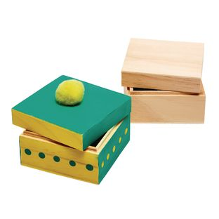 Colorations Wooden Trinket Boxes - Set of 12