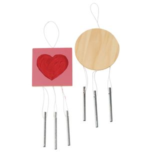 Colorations Wooden Wind Chimes - Set of 12