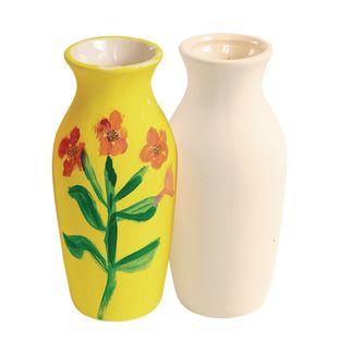 Colorations Decorative Ceramic Vases - Set of 12