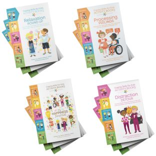 SEL Coping Skills for Kids Activities Books - Set of 4