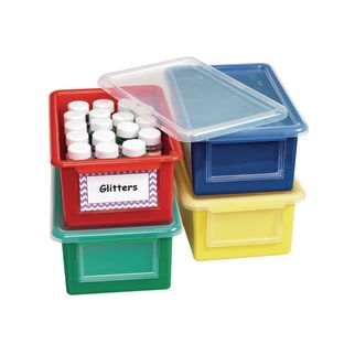 Easy Label Storage Bins and Lids – Set of 4