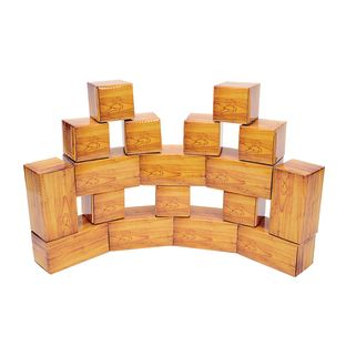 Excellerations® Wood-Look Blocks Set of 18