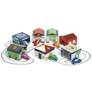 Excellerations® Around the Town Wooden Structures - Set of 7