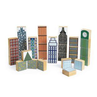 Excellerations® Wooden Skyscraper Blocks - 35 Pieces