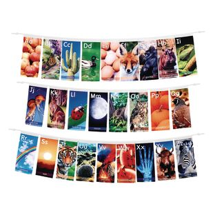 Excellerations® Nature Alphabet Banners Set of 26