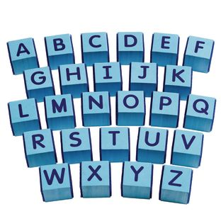 Excellerations® Hook and Loop ABC Blocks - Set of 26