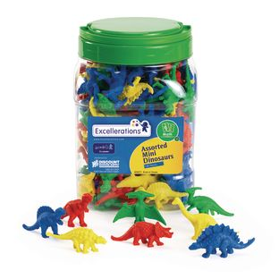 Excellerations® Assorted Mini Dinosaurs - 128 Pieces