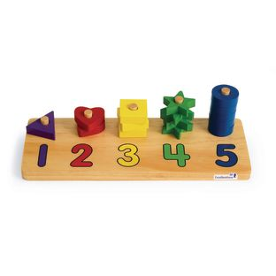 Excellerations® Wooden Shape Number Counter