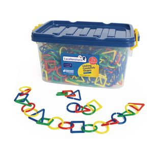 Excellerations® Linking Geometric Shapes - 500 Pieces