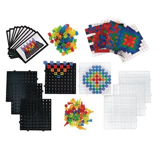 Excellerations® Translucent Pegs Activity Set and Translucent Cubes Activity Set - 248 Pieces Total