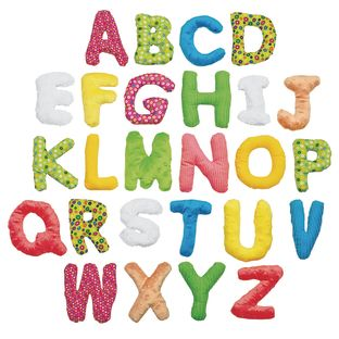 """Environments® 5"""" Jumbo Premium Soft Sensory Alphabet Letters with Basket for Toddlers"""