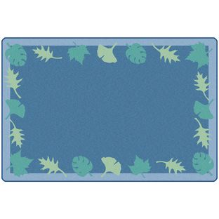 Blue Leaf Carpet – 6' x 9'