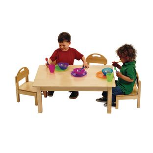 Low Toddler Table and 4 Chairs