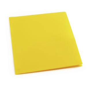 Plastic Pocket Folder, Yellow
