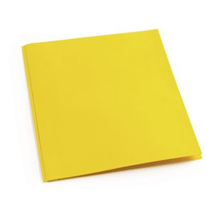 Pocket and Brad Folder, Yellow