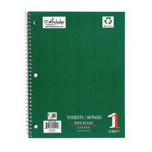 Spiral Notebook, 70 sheets - Green