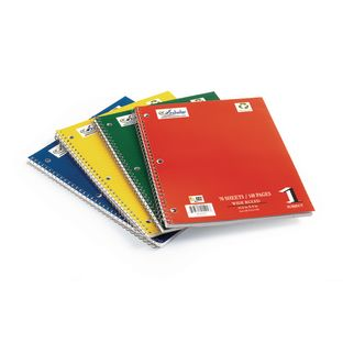Spiral Notebooks, Assorted Colors – Set of 12