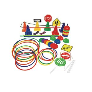 Obstacle Course Activity Set - 70 Pieces