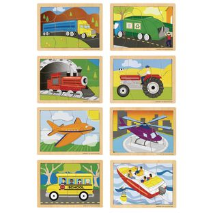 Excellerations® Transportation Puzzles – Set of 8