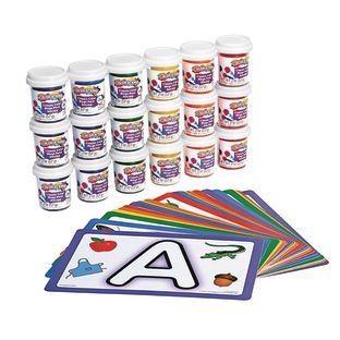 Colorations® Dough, 36 pots, 6 colors, 6 of each and ABC modelling mats