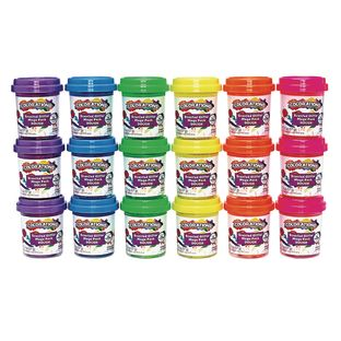Colorations Scented Glitter Dough, 2 oz, Set of 18