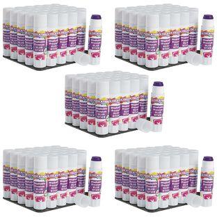 Colorations® Washable Premium Purple Glue Sticks, Set of 150, 0.32 oz ea