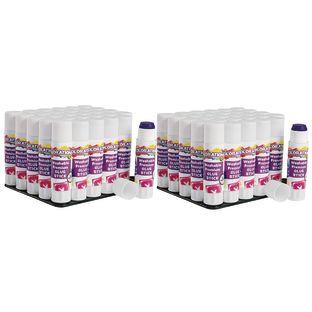 Colorations® Washable Premium Purple Glue Sticks, Set of 60, 0.32 oz ea