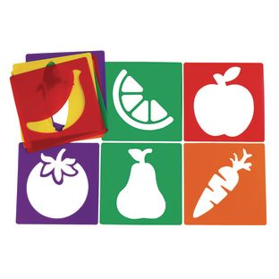 Colorations® Fruit and Vegetable Stencils Set of 12