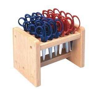 Colorations[r] Natural Wood Scissor Rack