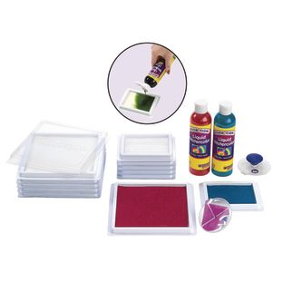 Colorations[r] Liquid Watercolor[tm] Blank Stamp Pads - 6 Pieces