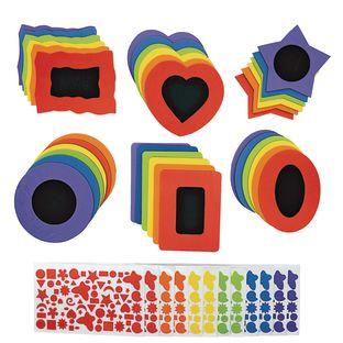 Colorations® No-Glue Fun Foam Frames - Set of 36