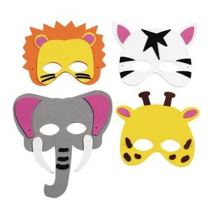 Colorations[r] Wild Animal Foam Masks, Set of 12