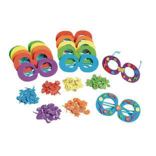 Colorations[r] Decorate Your Own Glasses - Kit for 12