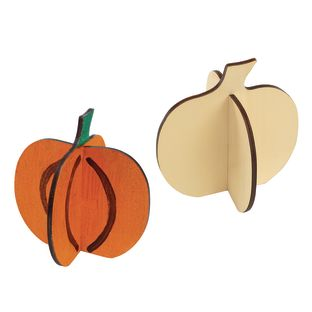 Colorations® Easy Build 3D Wood Pumpkin Set of 6