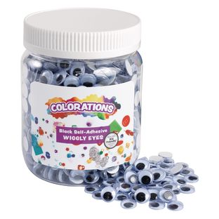 Colorations[r] Self-Adhesive Wiggly Eyes - 1,000 Pieces