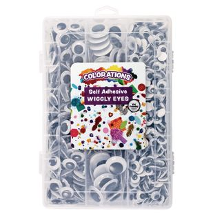 Colorations® Self-Adhesive Wiggly Eyes in Tray 875 Pieces