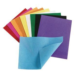 "Colorations Felt Sheets, 10 Colors, each 9"" x 12"""