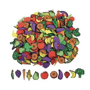 Colorations® Self-Adhesive Fruit and Veggie Foam 500 pieces