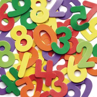 Colorations® Self-Adhesive Number Foam Shapes 150 Pieces