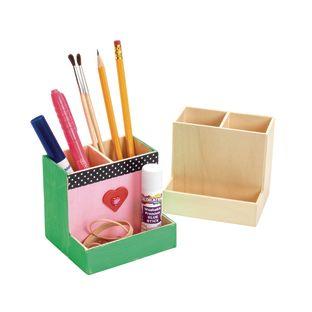 Colorations[r] Wooden Desktop Organizer - Set of 12