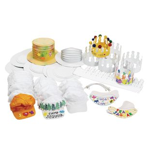 Hats and Visors Craft Pack - 96 Pieces
