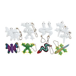 Colorations[r] Decorate Your Own Critter Keychains - Set of 12