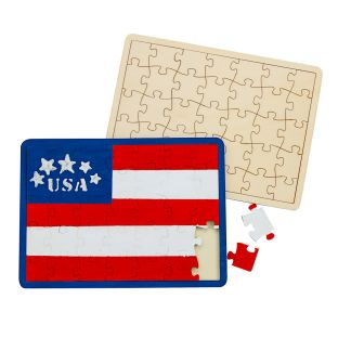 Decorate Your Own Wooden Tray Puzzle - Set of 6