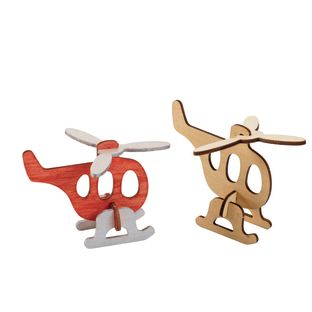 Colorations Decorate Your Own 3-D Wooden Vehicle Puzzles, Set of 4 Designs with Paint and Brushes