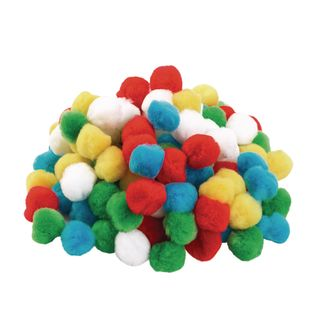 Colorations Pom Poms, Set of 100, Assorted Colors
