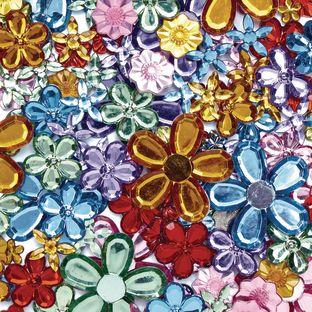 Colorations[r] Sparkling Flower Jewels - 300 Pieces